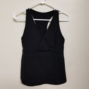 Black Lululemon tank top with built in bra